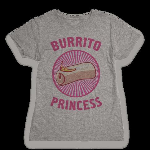 Burrito Princess Womens T-Shirt