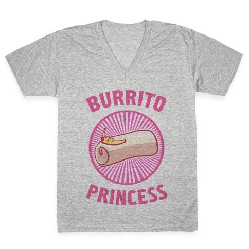 Burrito Princess V-Neck Tee Shirt