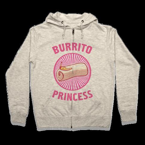 Burrito Princess Zip Hoodie