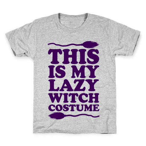 This Is My Lazy Witch Costume Kids T-Shirt