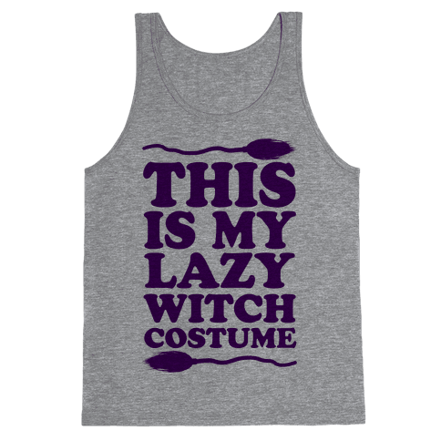 This Is My Lazy Witch Costume Tank Top