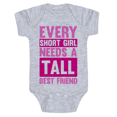 Short Girl BFF Baby Onesy