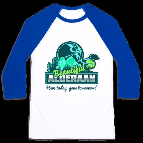 Beautiful Alderaan Vacation Baseball Tee