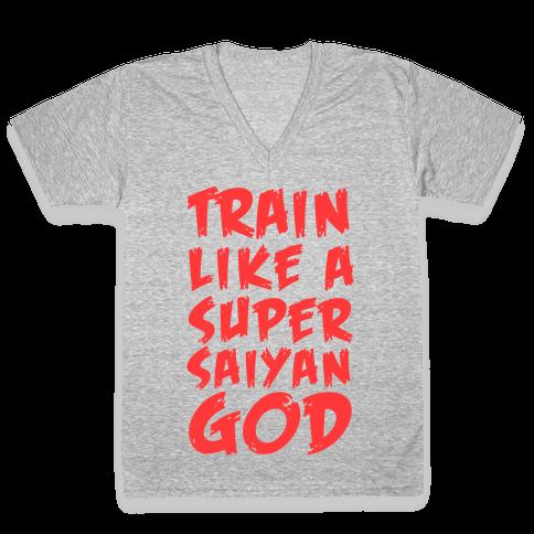 Train Like a Super Saiyan God V-Neck Tee Shirt