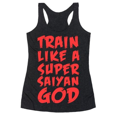 Train Like a Super Saiyan God Racerback Tank Top