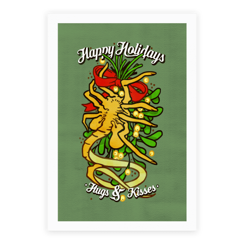 Happy Holidays Hugs and Kisses Poster