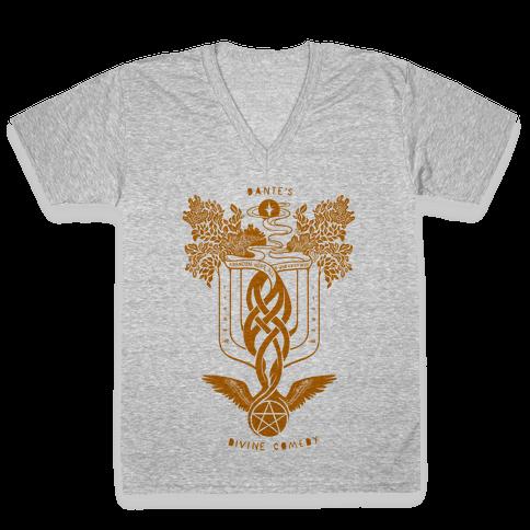 Dante's Divine Comedy V-Neck Tee Shirt