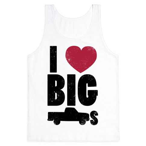 I Heart Big Trucks Tank Top
