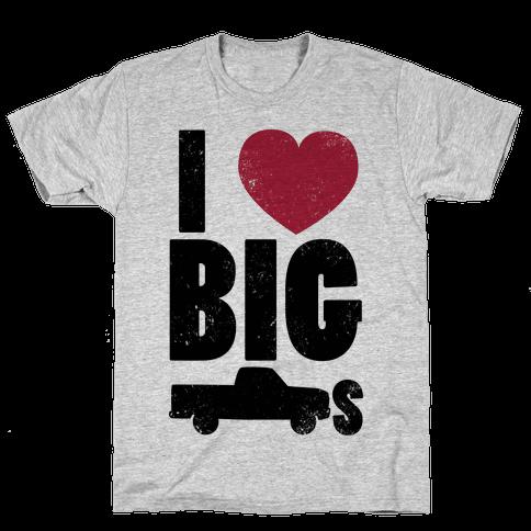 I Heart Big Trucks Mens T-Shirt