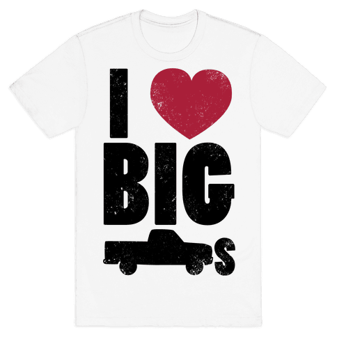 I Heart Big Trucks Mens T-Shirt