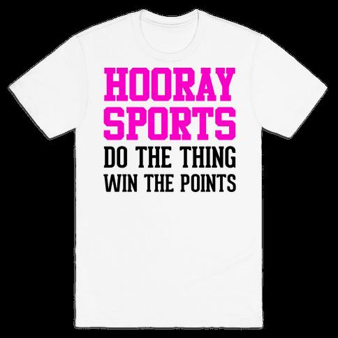 Hooray Sports (Pink) Mens T-Shirt