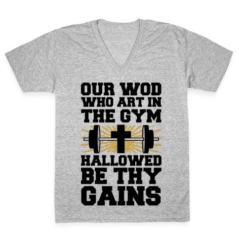 The Fitness Prayer V-Neck Tee Shirt