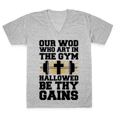 The Fitness Prayer V-Neck Tee Shirt