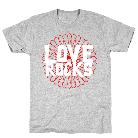 Love Rocks Mens T-Shirt