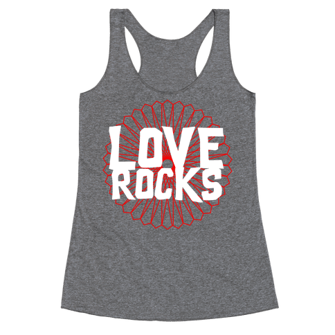 Love Rocks Racerback Tank Top