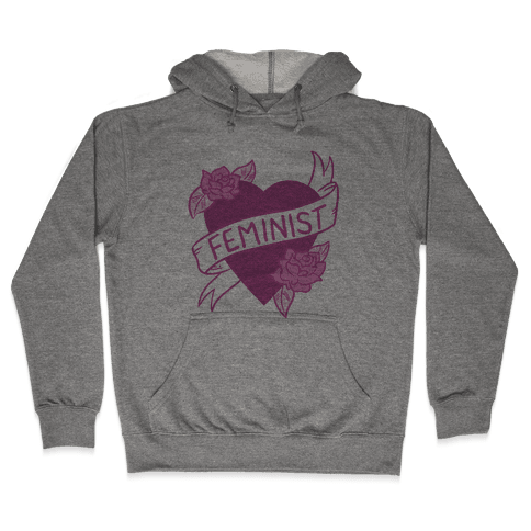 Feminist Heart Hooded Sweatshirt