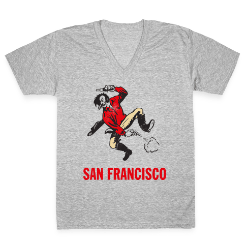 San Francisco (Vintage) V-Neck Tee Shirt