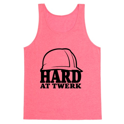Hard At Twerk Neon Tank Top