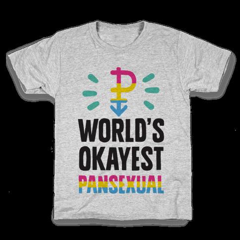 World's Okayest Pansexual Kids T-Shirt