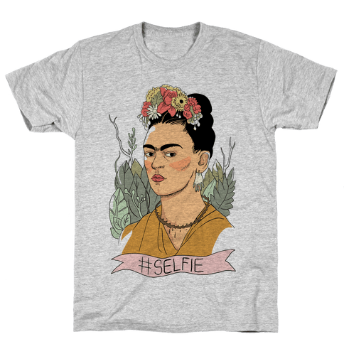 Frida #Selfie Mens T-Shirt