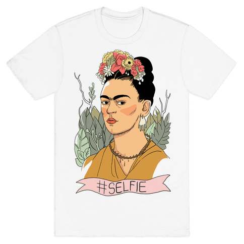 Frida #Selfie Mens T-Shirt