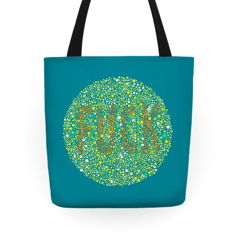 Color Blind Test ( F*** ) Bag Tote