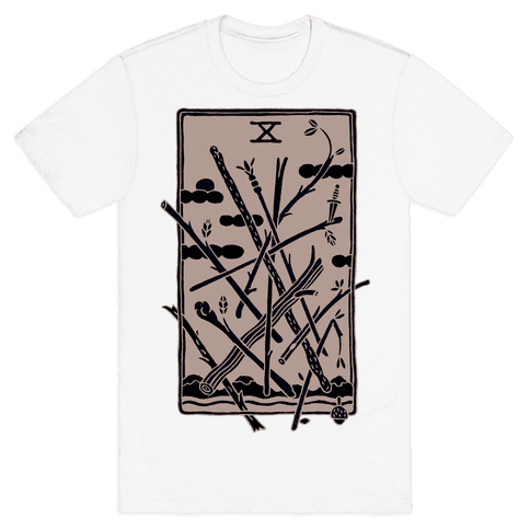 Ten Of Wands Mens T-Shirt