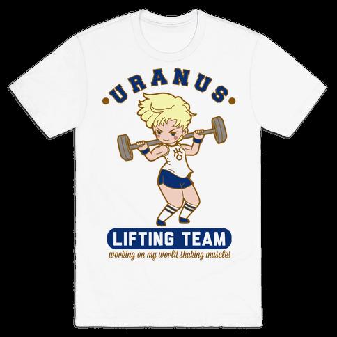 Uranus Lifting Team Parody Mens T-Shirt