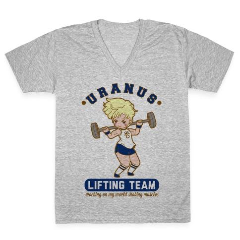 Uranus Lifting Team Parody V-Neck Tee Shirt