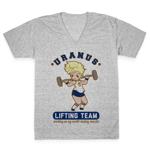 Uranus Lifting Team Parody V-Neck Tee Shirt