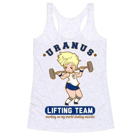 Uranus Lifting Team Parody Racerback Tank Top