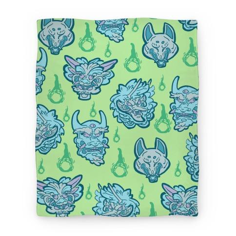 Oni Demons Pattern Blanket