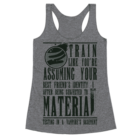 Train Like Cloud Racerback Tank Top