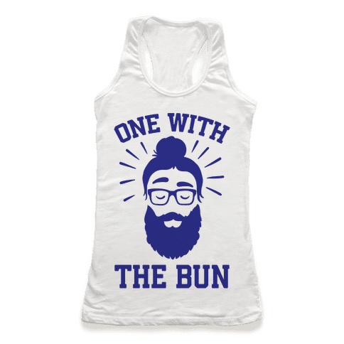 One With The Bun Racerback Tank Top