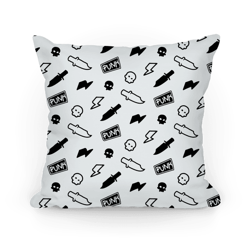 Black and White Rebel Punk Pattern