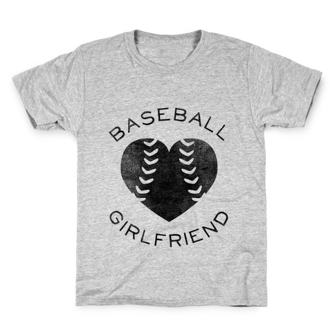 Baseball Girlfriend (Baseball Tee) Kids T-Shirt