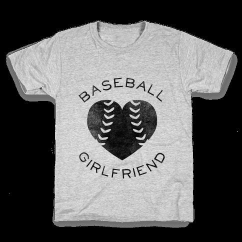Baseball Girlfriend (Baseball Tee) Kids T-Shirt