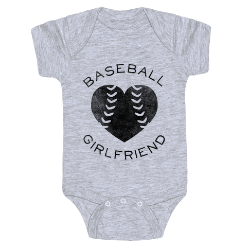 Baseball Girlfriend (Baseball Tee) Baby Onesy