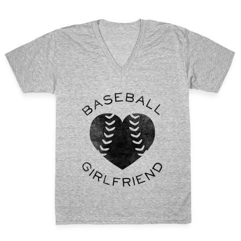 Baseball Girlfriend (Baseball Tee) V-Neck Tee Shirt