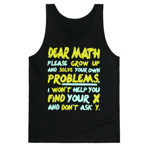 Dear Math Tank Top