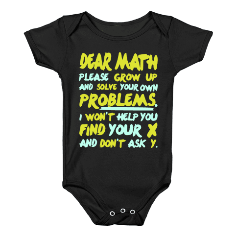 Dear Math Baby Onesy