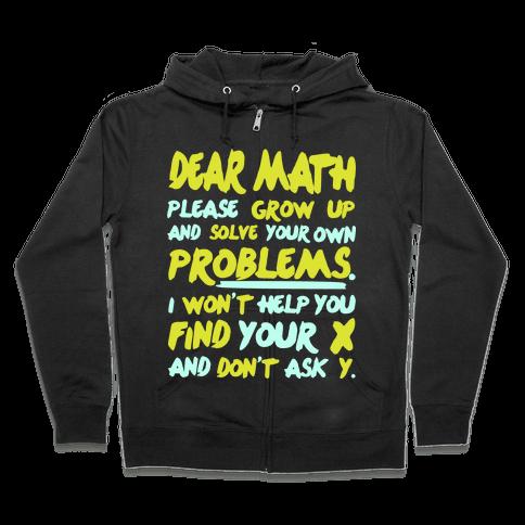 Dear Math Zip Hoodie
