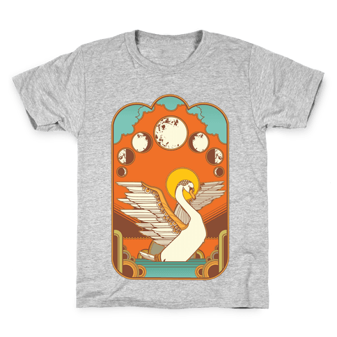 Swan Lake Moon Kids T-Shirt