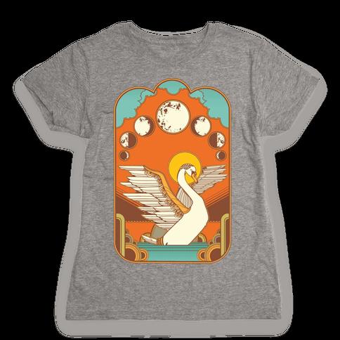 Swan Lake Moon Womens T-Shirt