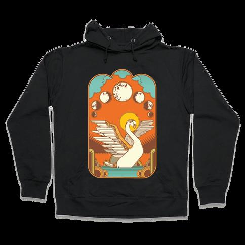 Swan Lake Moon Hooded Sweatshirt