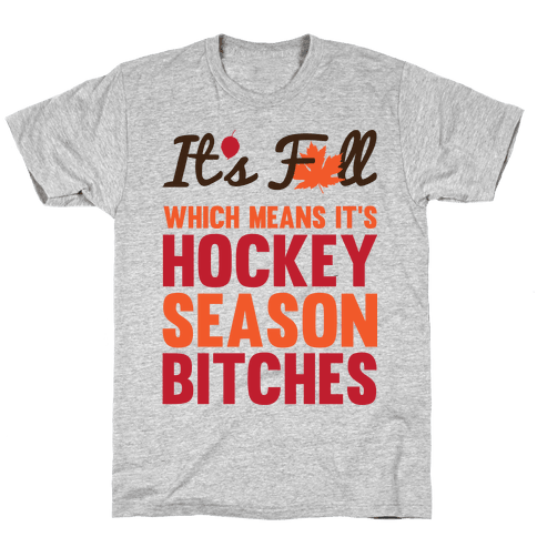 Hockey Season Mens T-Shirt