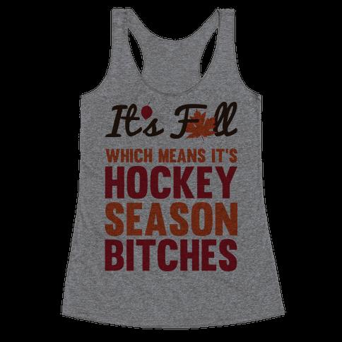 Hockey Season Racerback Tank Top