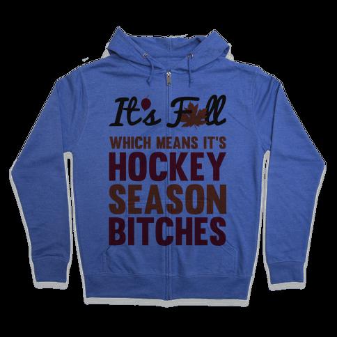 Hockey Season Zip Hoodie