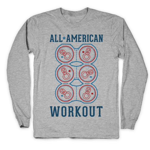All American Workout Long Sleeve T-Shirt