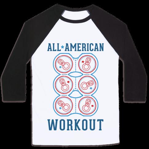 All American Workout Baseball Tee